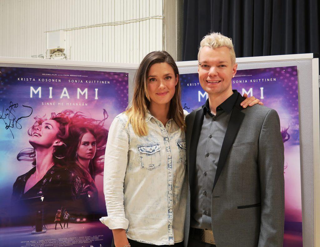 Krista Kosonen ja Juha-Matti Tammela, kuva: Hanna Lempiäinen